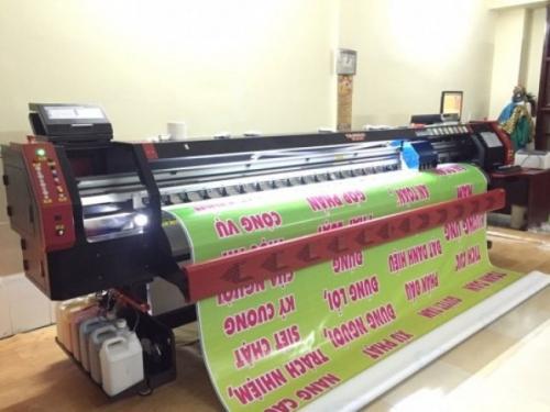 Máy in bạt quảng cáo chất lượng tốt, sản phẩm in luôn đạt chất lượng tốt về chất liệu cũng như màu sắc