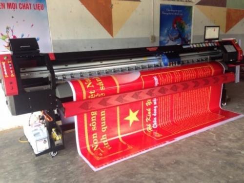 Máy in phun khổ lớn màu đỏ với công nghệ Nhật Bản