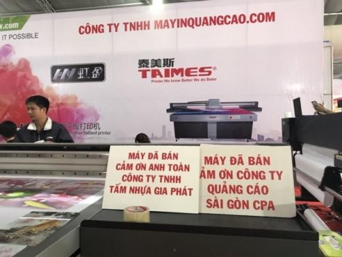 Công ty TNHH MayInQuangCao.com hân hạnh trở thành nhà cung cấp máy in phẳng khổ lớn cho các đối tác công ty sản xuất
