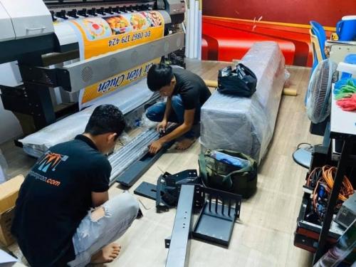 Bàn giao máy in khổ 1m6 Taimes từ TPHCM về Vũng Tàu - Chuyển giao công nghệ in phun kỹ thuật số  - Ảnh: 2