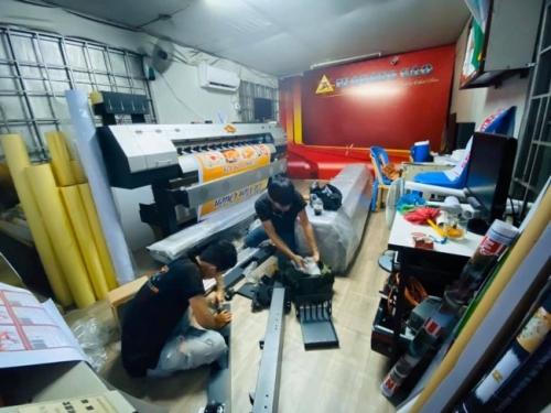 Bàn giao máy in khổ 1m6 Taimes từ TPHCM về Vũng Tàu - Chuyển giao công nghệ in phun kỹ thuật số  - Ảnh: 3