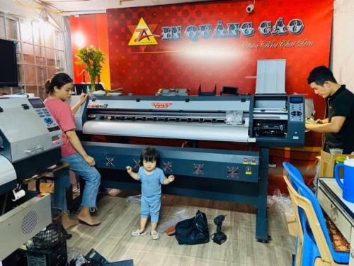 Bàn giao máy in khổ 1m6 Taimes từ TPHCM về Vũng Tàu - Chuyển giao công nghệ in phun kỹ thuật số  - Ảnh: 4